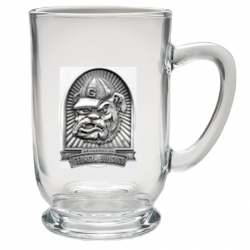 "University of Georgia ""Bulldog"" Clear Coffee Cup"