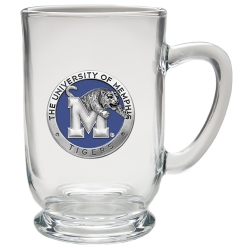 University of Memphis Clear Coffee Cup - Enameled