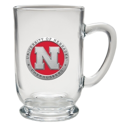 University of Nebraska Clear Coffee Cup - Enameled