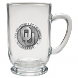 "University of Oklahoma ""OU"" Clear Coffee Cup"