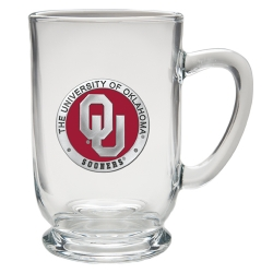 "University of Oklahoma ""OU"" Clear Coffee Cup - Enameled"