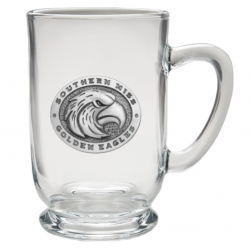 University of Southern Mississippi Clear Coffee Cup