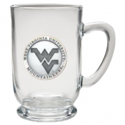 West Virginia University Clear Coffee Cup