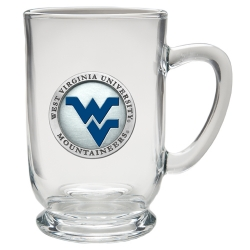 West Virginia University Clear Coffee Cup - Enameled