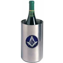 Masonic Square & Compass Wine Chiller - Enameled