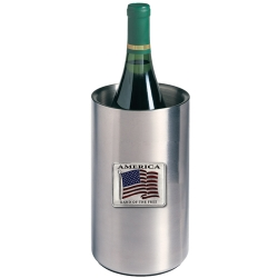 US Flag Wine Chiller - Enameled