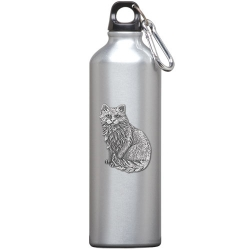 Cat Sitting Water Bottle