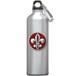 Fleur de Lis #2 Water Bottle - Enameled