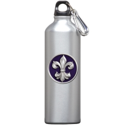 Fleur de Lis #3 Water Bottle - Enameled