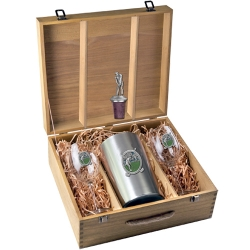 "Golf ""Putter"" Wine Set w/ Box - Enameled"