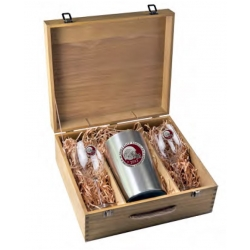 2013 BCS National Champions Florida State Seminoles Wine Set w/ Box - Enameled