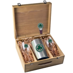 Clover Wine Set w/ Box - Enameled