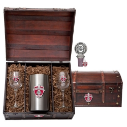 2014 BCS National Champions Ohio State Buckeyes Wine Set w/ Chest - Enameled