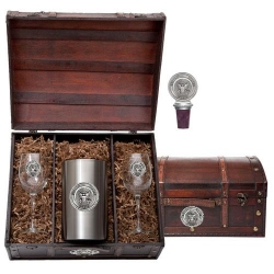 Navy Wine Set w/ Chest