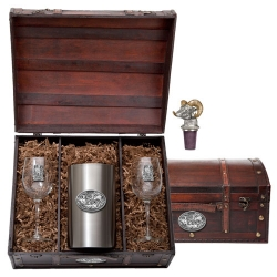 Bighorn Sheep Wine Set w/ Chest