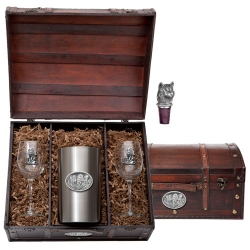 Wolves Wine Set w/ Chest