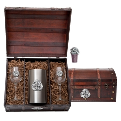 Grapes Wine Set w/ Chest