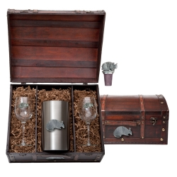 Armadillo Wine Set w/ Chest