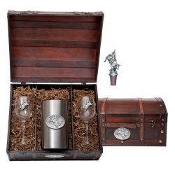 Bull Rider Wine Set w/ Chest