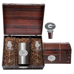 "University of Georgia ""G"" Wine Set w/ Chest"