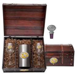 "Georgia Institute of Technology ""GT"" Wine Set w/ Chest - Enameled"