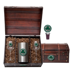 Clover Wine Set w/ Chest - Enameled