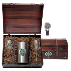 Army Wine Set w/ Chest - Enameled