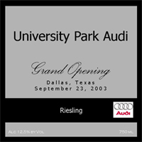 Audi Uses Su Vino Winery's Corporate Private Label Wines